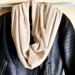 New Tan Textured Infinity scarf | Wrap Neck Scarf
